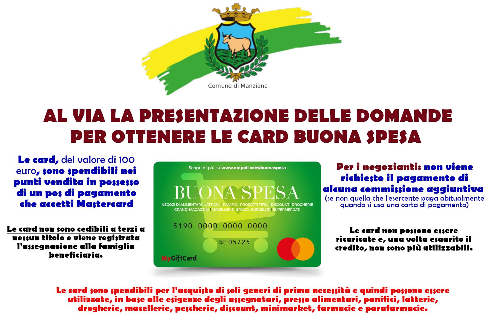 AL VIA LA PRESENTAZIONE DELLE DOMANDE PER OTTENERE LE CARD ...
